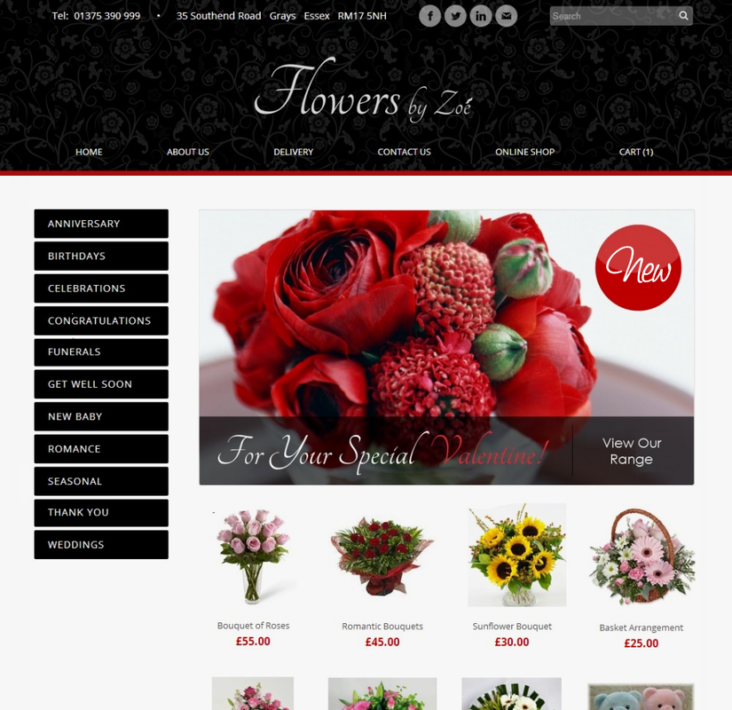 Flowers by Zoe Web Design