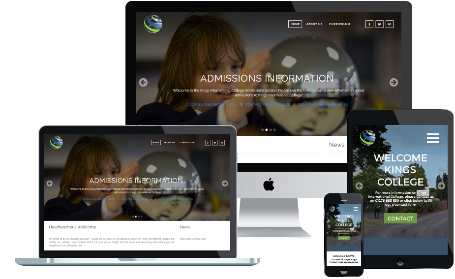 Kings International College Responsive Web Design Project